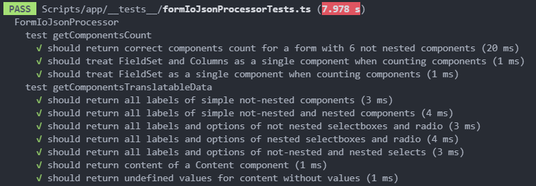 Jest tests output in VS Code