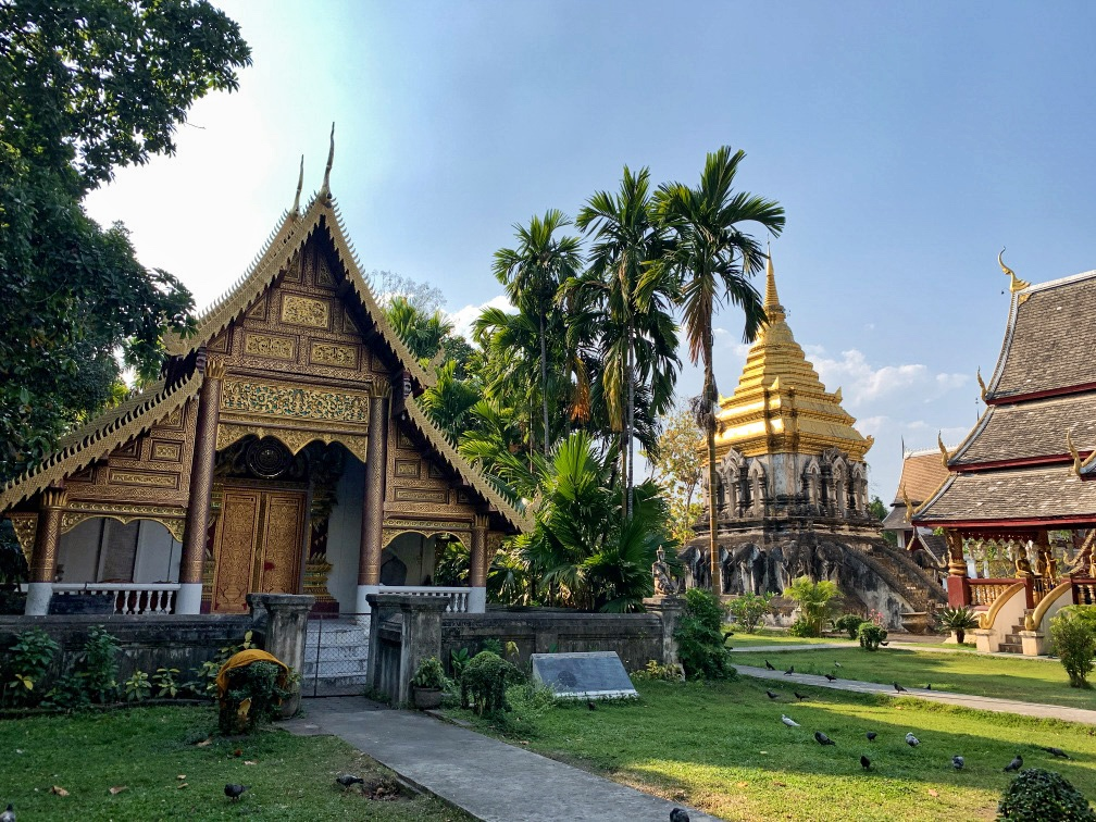 One of the Buddhist temples in Chiang Mai